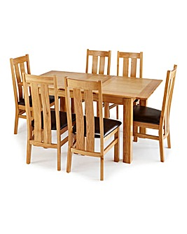 Buxton Dining Table and 6 Chester Chairs