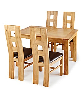 Buxton Dining Table and 4 Rutland Chairs