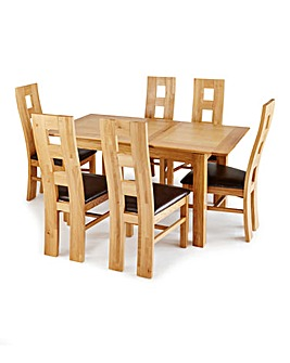 Buxton Dining Table and 6 Rutland Chairs