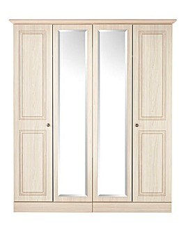 Aragn 4 Door Wardrobe with Centre Mirror