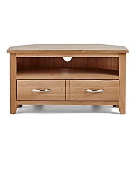 Harrogate Oak and Oak Corner TV Unit