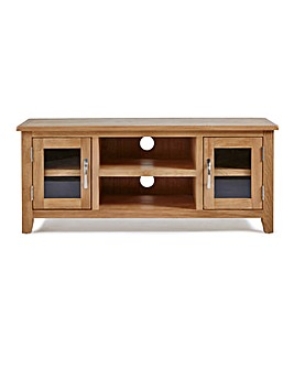 Harrogate Oak Veneer Large TV Unit