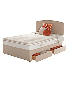 Sealy Memory Cushion Top 4 Drawer Divan