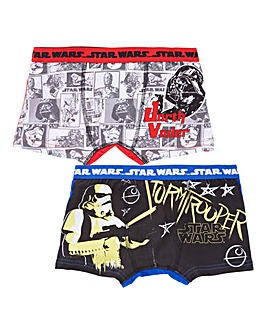 Star Wars Boys Pack of Two Boxers