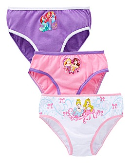 Dinsey PrincGirls Pack of Three Knickers