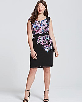Little Mistress Floral Bodycon Dress