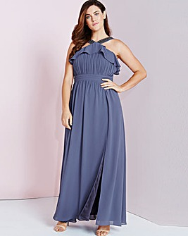 Little Mistress Maxi Dress With Ruffle