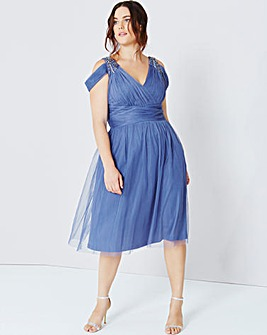 Little Mistress Drape Midi Dress