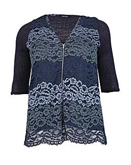 Samya Lace Detail Zip Top