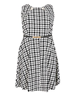 Samya Checked Belted Dress