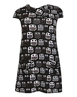 Samya Owl Print Knit Dress