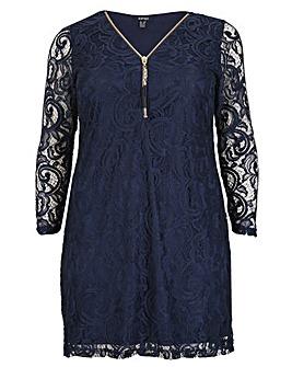 Samya Zip Lace Dress