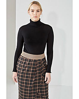 Elvi Checked Tulip Skirt