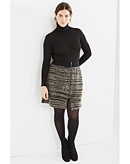 Elvi Textured Zip Skirt