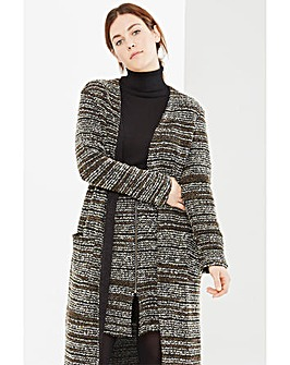 Elvi Textured Oversized Cardigan