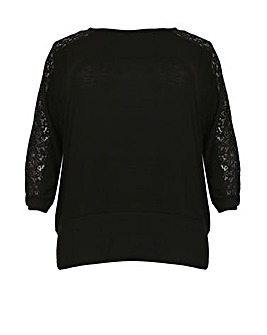 Samya Contrast Lace Panel Top