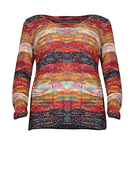 Samya Multi-Knit V-Neck Jumper