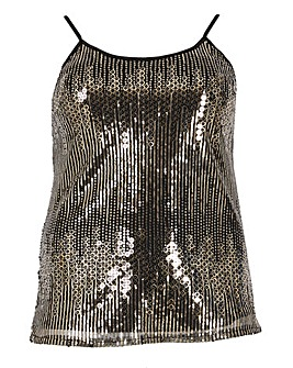 emily Sequin Vest Top