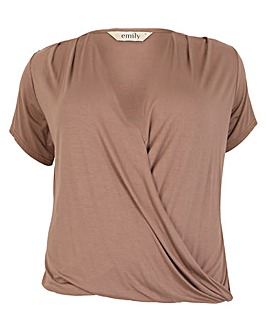 emily Crossover Pleat Top