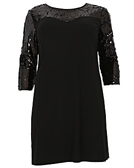 emily Sequin Lace Dress