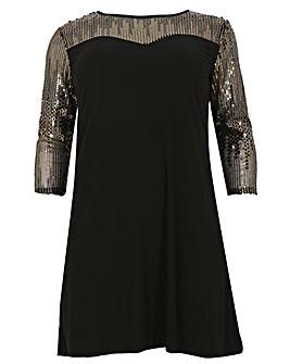 emily Sequin Lace Dress