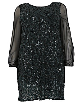 emily Sequin Swing Dress