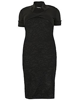 Feverfish Bolero Lace Bodycon Dress