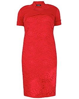 Feverfish Bolero Lace Bodycon Dress