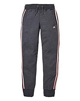 adidas Grey and Pink Girls Joggers