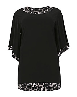Feverfish Contrast Print Tunic