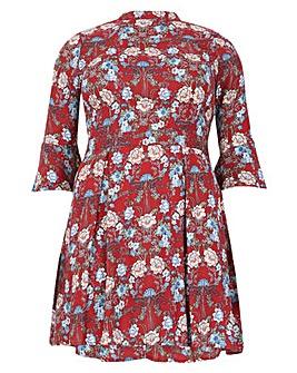 Samya Floral Print Skater Dress