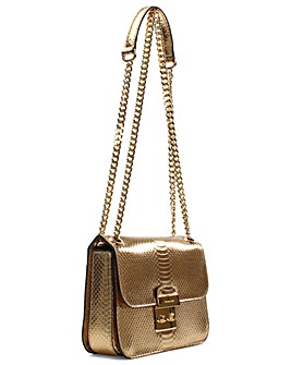 Michael Kors Gold Reptile Shoulder Bag