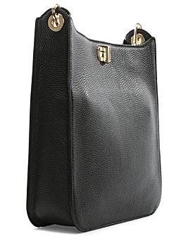 Michael Kors Black Leather Messenger Bag