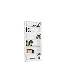 HOME Maine Tall Wide Bookcase - White.