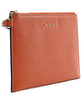 Michael Kors Orange Leather Clutch Bag