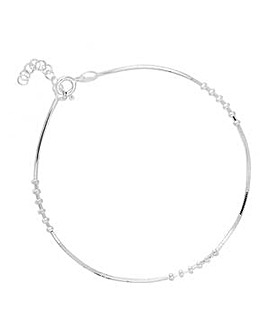 Simply Silver spiral stations bracelet