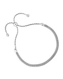 Simply Silver popcorn toggle bracelet