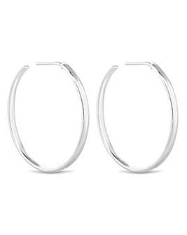 Simply Silver flat hoop earring
