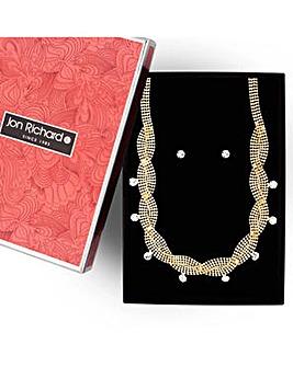 Jon Richard diamante wave jewellery set