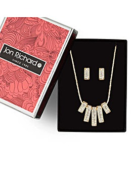 Jon Richard pave stick jewellery set