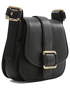Michael Kors Black Leather Saddle Bag