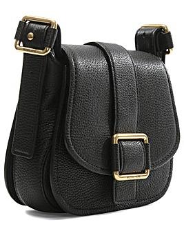 Michael Kors Black Leather Saddle Bag