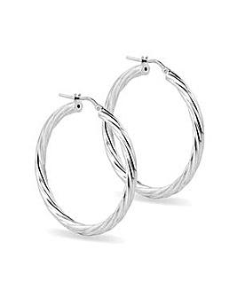 Simply Silver twisted hoop earring