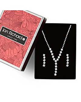 Jon Richard crystal square jewellery set
