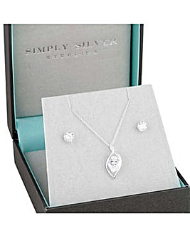 Simply Silver petal jewellery set