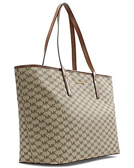 Micahel Kors Beige Luggage Tote Bag