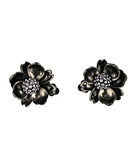 Flower clip earring