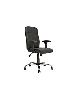 Jarvis High Back Chair with Arms - Black