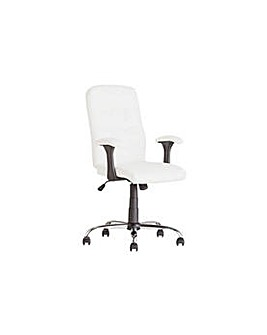 Jarvis High Back Chair with Arms - White