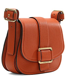 Michael Kors Orange Leather Saddle Bag